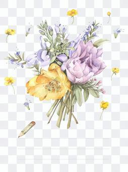 明信片2  - 春天的花朵賀卡