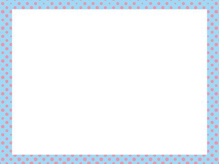 【可愛背景】淡藍色隨機珠框