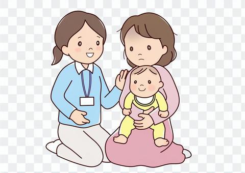 公共衛生護士和媽媽的情緒