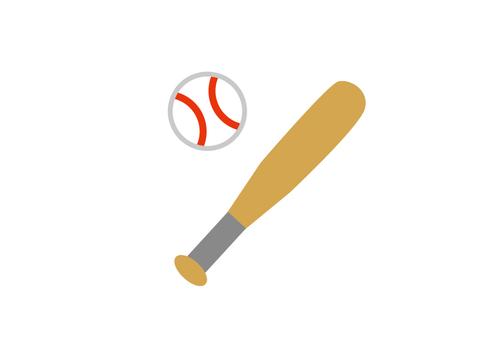 Baseball bat and ball without wire