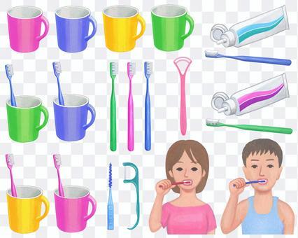 牙膏的插圖集