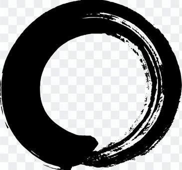 筆文字素材「〇」1