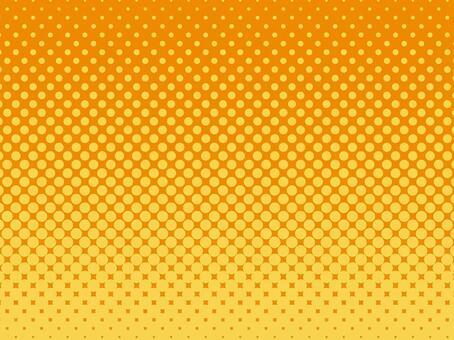 半色調背景材料(黃色x橙色)
