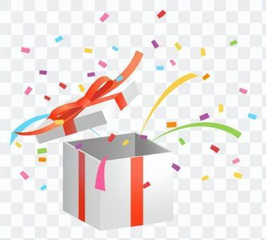禮物盒·五彩紙屑2