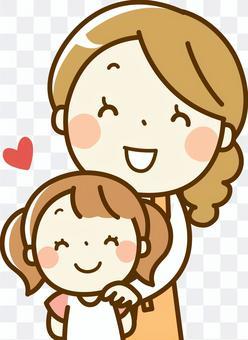 家长和孩子的微笑
