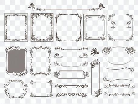 復古玫瑰框架集