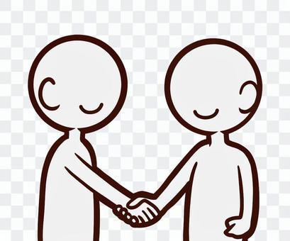 握手をする人たち