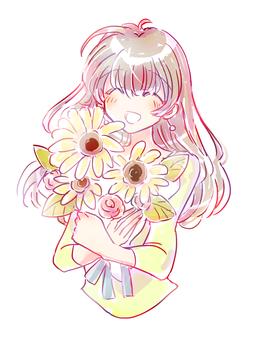 喜歡向日葵的女人