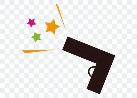插圖(手槍,星星的火花)