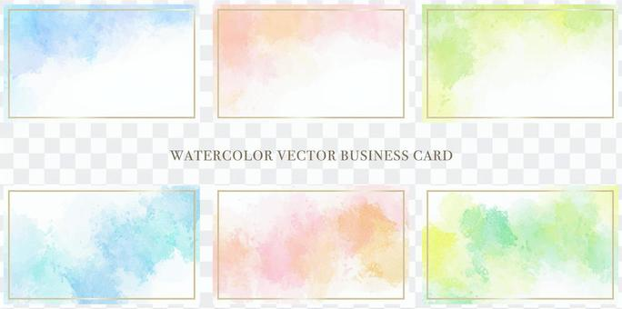 For business cards: watercolor touch background set