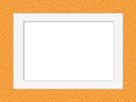軟木圖案框和白色啞光相框