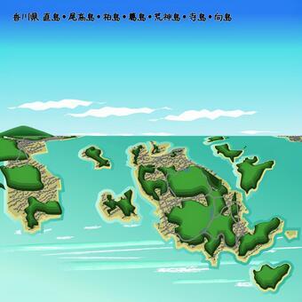 直島香川縣海上