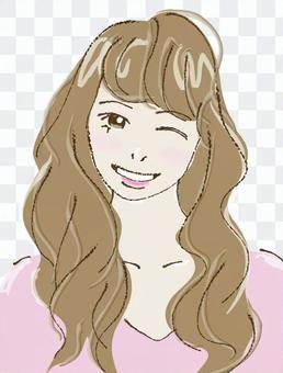 Female A (wink)