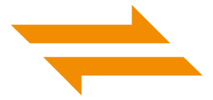 鋒利的箭頭_橙色