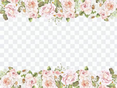 Flower frame 390 - flower frame of a gentle large rose