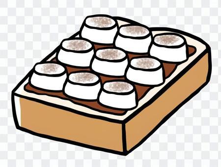 棉花糖巧克力吐司