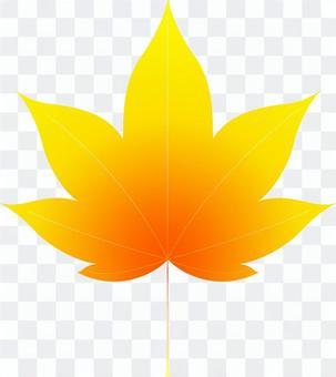 aiオレンジ色のカエデ4・1点