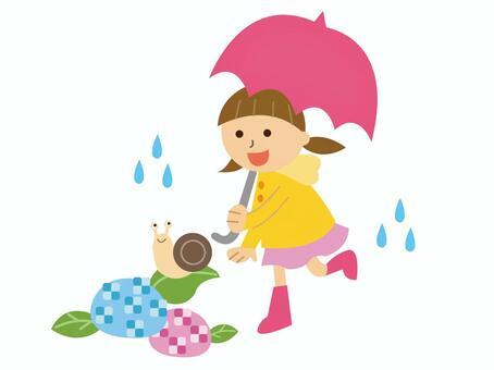 下雨天的學校