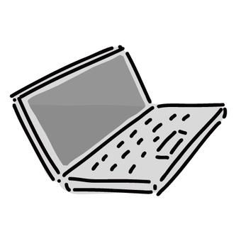 筆記本電腦的鬆散簡單插圖