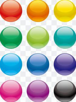12個顏色球體