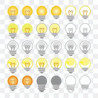 Light bulb packing set