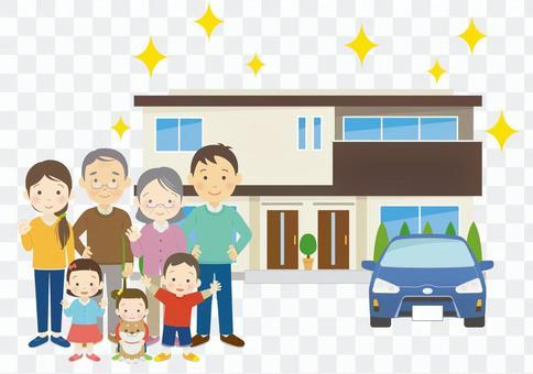 三代家庭和兩戶新住房