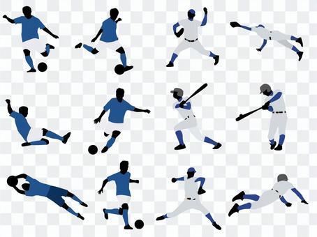 足球/棒球剪影集
