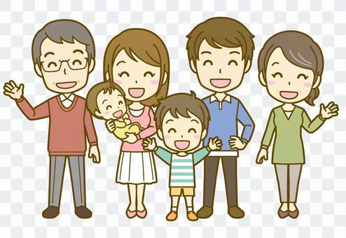 家族A(三世代)_笑顔02FS
