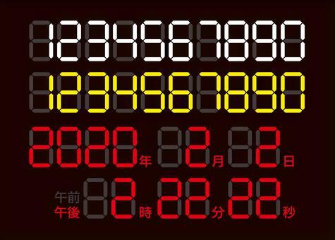 デジタル数字(西暦・日時・時間)
