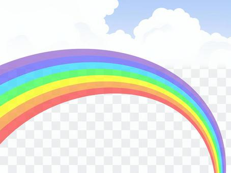 The sea of clouds and rainbow 2 (translucent rainbow)