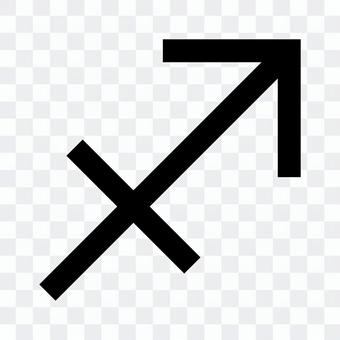 Sagittarius mark icon