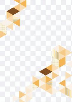 幾何圖案橙色