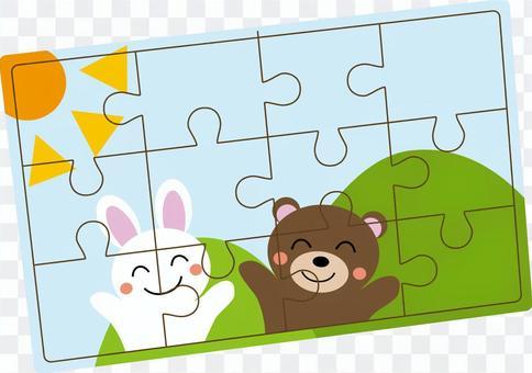 兒童拼圖的插圖