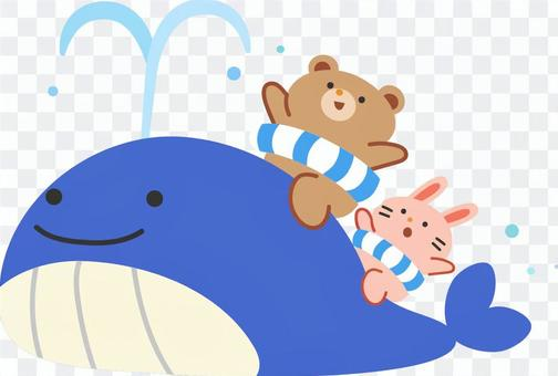 Fun whales, bears and rabbits