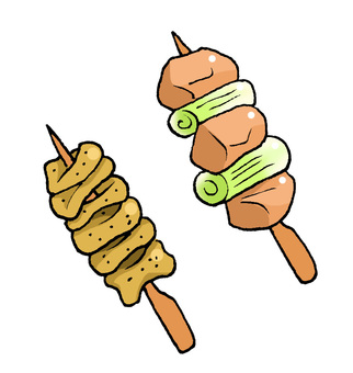 烤雞肉串·Negima·Hawk