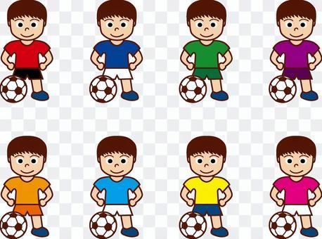 足球和男孩(制服)