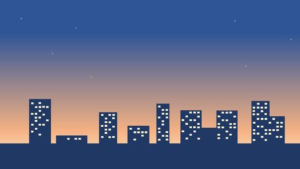 黃昏的城市景觀