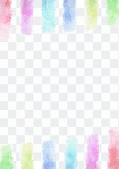 水彩畫的垂直條紋·中央白色的垂直·彩虹