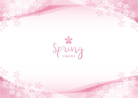 Spring background frame 024 Cherry transparent feeling