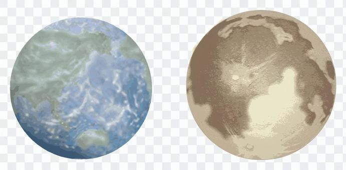 月亮和地球
