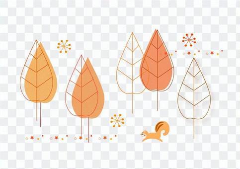 秋天的插圖
