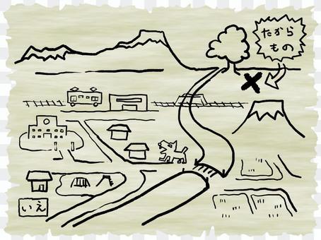 藏寶圖 Map Adventure Exploration Kids Dream