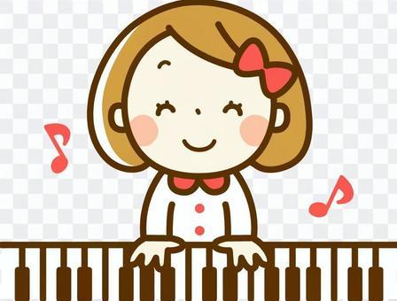 一個彈鋼琴的女孩
