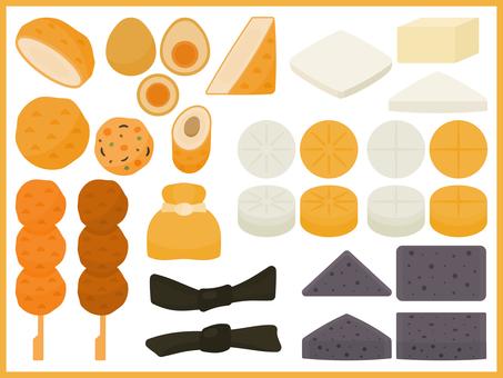 簡單的關東煮成分插圖集