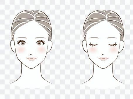 女性前臉(2種)