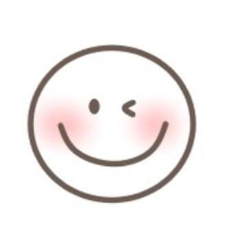 透明笑臉笑眨眼