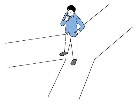 一個想知道選擇兩條道路中的哪一條的人