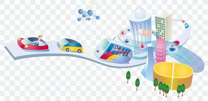 未來都市 道路 街