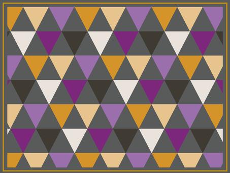 萬聖節彩色三角形圖案背景 1