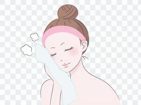 Steamed towel